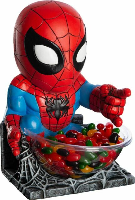 Candy Bowl Holder Marvel Spider- Man Mini Half Foam Licensed Statue - LM Treasures Life Size Statues & Prop Rental