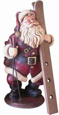 Santa Claus Christmas Wine Holder Prop Decor Resin Statue- LM Treasures