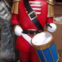 Toy Soldier 7ft  Drummer Life Size Resin Christmas Statue - LM Treasures Life Size Statues & Prop Rental