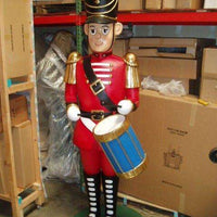 Toy Soldier 7ft  Drummer Life Size Resin Christmas Statue- LM Treasures