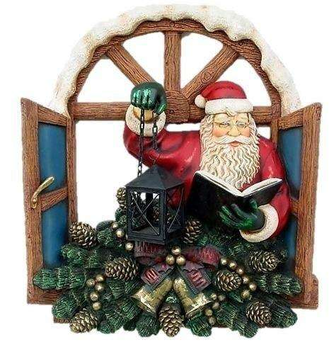Santa Claus Christmas Window Prop Decor Resin Statue- LM Treasures
