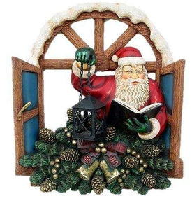 Santa Claus Christmas Window Prop Decor Resin Statue - LM Treasures Life Size Statues & Prop Rental