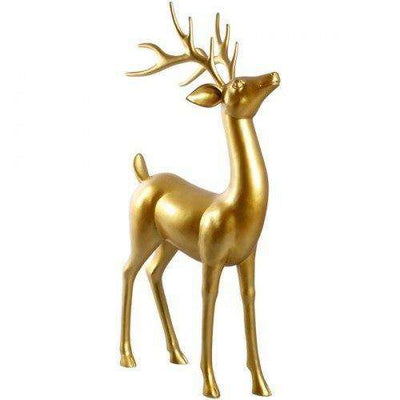 Reindeer Standing Gold Christmas Prop Life Size  Resin Statue- LM Treasures