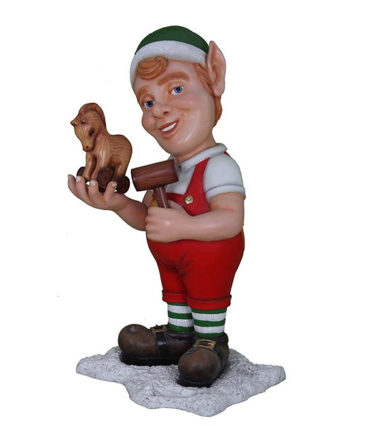 Elf Bushy With Horse And Hammer - LM Treasures Life Size Statues & Prop Rental