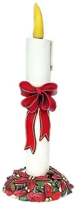 Candle with Ribbon Life Size Christmas Prop Decor Resin Statue - LM Treasures Life Size Statues & Prop Rental