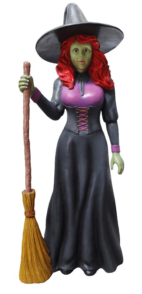 Comic Pretty Witch Life Size Decor Prop Statue - LM Treasures