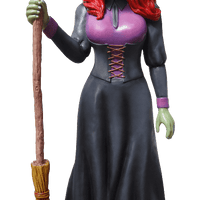Comic Pretty Witch Life Size Decor Prop Statue - LM Treasures Life Size Statues & Prop Rental