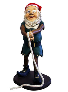 Elf Babbo And Rope - LM Treasures Life Size Statues & Prop Rental