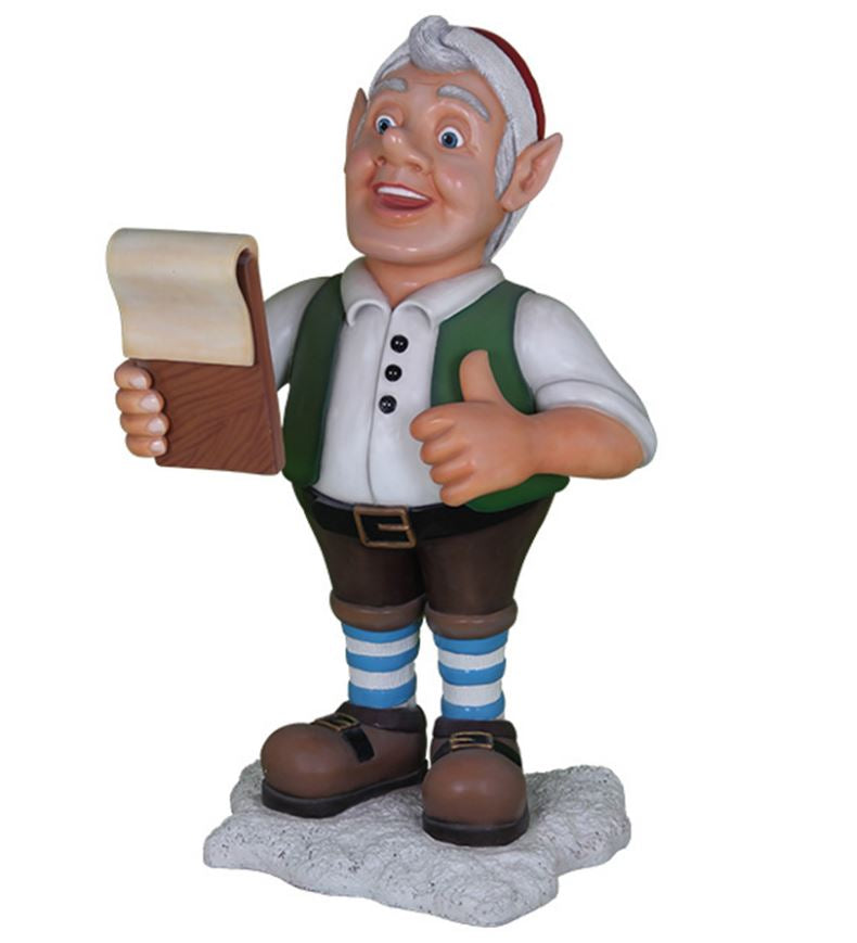 Elf Berny With Book - LM Treasures Life Size Statues & Prop Rental