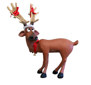 Reindeer Dasher Mini Standing Crossed - LM Treasures Life Size Statues & Prop Rental