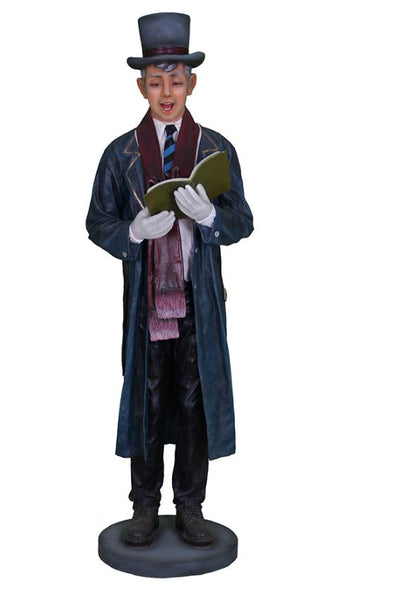 Caroler Father With Book - LM Treasures Life Size Statues & Prop Rental