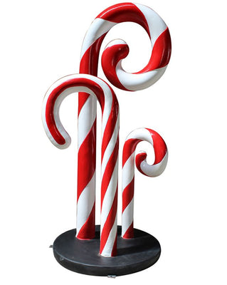 Candy Cane Trio - LM Treasures Life Size Statues & Prop Rental