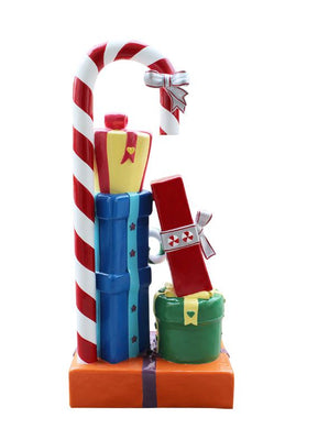 Candy Cane Gift Box (5) - LM Treasures Life Size Statues & Prop Rental