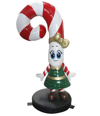 Candy Cane Daughter - LM Treasures Life Size Statues & Prop Rental