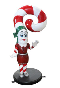 Candy Cane Wife - LM Treasures Life Size Statues & Prop Rental