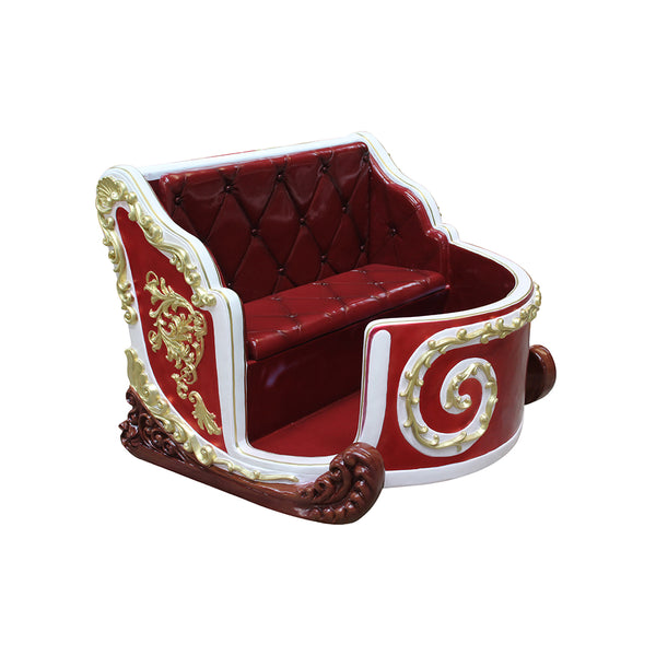 Sleigh Santa Royal Mini - LM Treasures Life Size Statues & Prop Rental