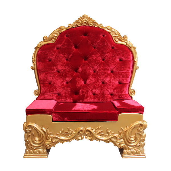 Chair Santa Throne (Gold/Red) 3 - LM Treasures Life Size Statues & Prop Rental