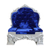 Chair Santa Throne (Silver/Royal) 3 - LM Treasures Life Size Statues & Prop Rental