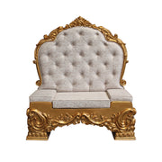 Chair Santa Throne (Gold/White) 3 - LM Treasures Life Size Statues & Prop Rental