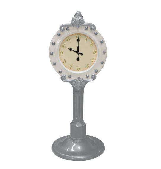 Clock Santa (White/Silver) - LM Treasures Life Size Statues & Prop Rental