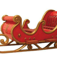 Sleigh Santa Red (4 Seater) - LM Treasures Life Size Statues & Prop Rental
