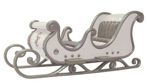 Sleigh Santa White (4 Seater) - LM Treasures Life Size Statues & Prop Rental