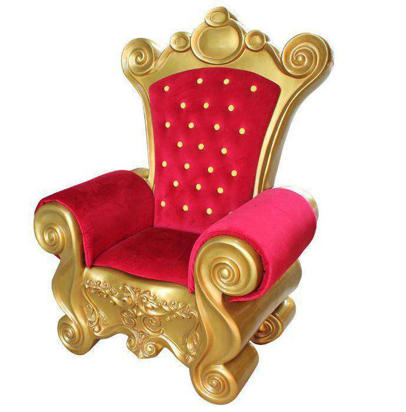 Chair Santa (Red) - LM Treasures Life Size Statues & Prop Rental
