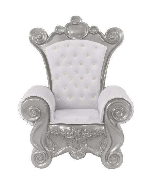Chair Santa (Silver) - LM Treasures Life Size Statues & Prop Rental