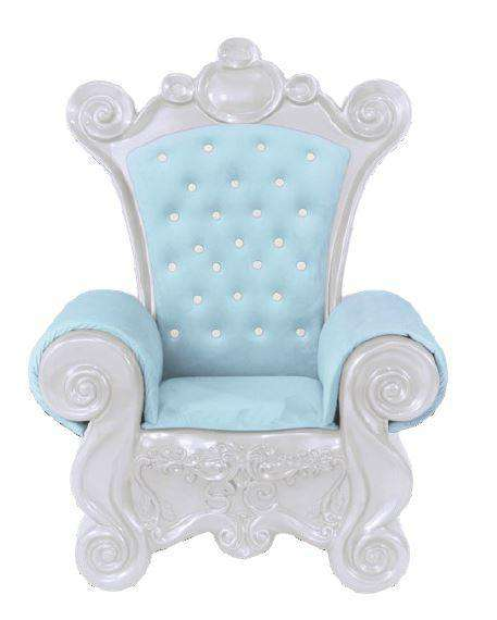 Chair Santa (White) - LM Treasures Life Size Statues & Prop Rental