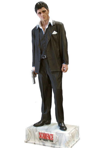 Scarface Gangster Tony Montana Rare Life Size Statue - LM Treasures Life Size Statues & Prop Rental