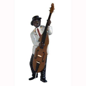 Jazz Band Bass Guitar Player Wall Decor - LM Treasures Life Size Statues & Prop Rental