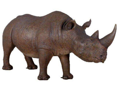 Rhinoceros Safari Prop Life Size Resin Decor Statue - LM Treasures Life Size Statues & Prop Rental