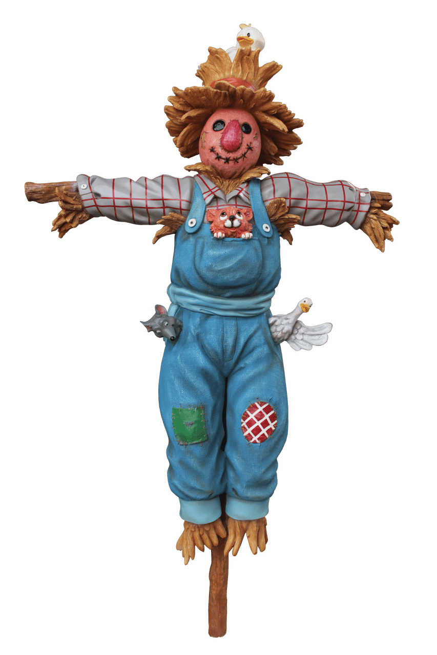 Comic Scarecrow on Post Life Size Decor Prop Statue - LM Treasures