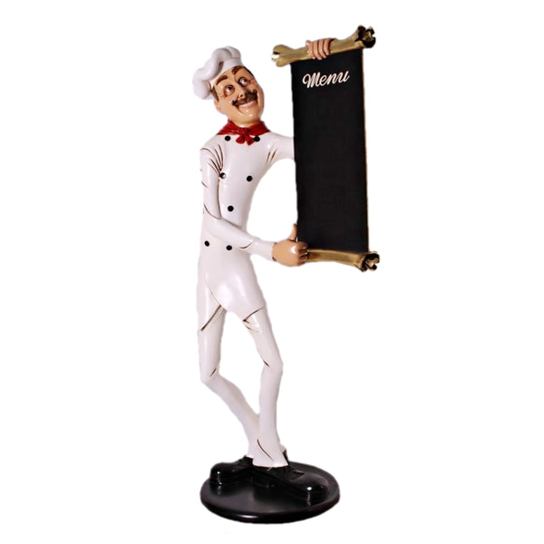 Chef Skinny Life Size Restaurant Prop Decor Statue - LM Treasures Life Size Statues & Prop Rental