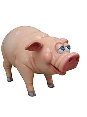 Comic Pig Standing Farm Prop Life Size Decor Resin Statue- LM Treasures