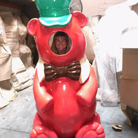 Red Gummy Bear Photo Op Over Sized Statue - LM Treasures