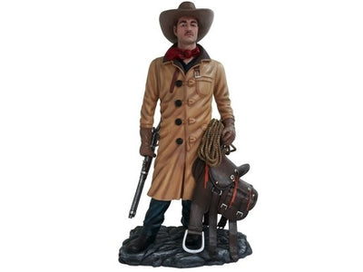 Cowboy Western In Coat Display Life Size Prop Decor Resin Statue - LM Treasures Life Size Statues & Prop Rental