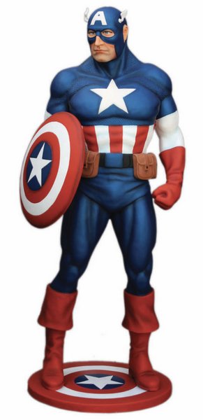 Captain Super Hero Life Size Statue - LM Treasures Life Size Statues & Prop Rental