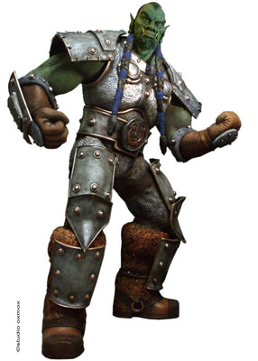 World Of Warcraft Rare Orc Thrall Life Size Statue- LM Treasures