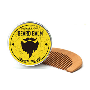 OALEN Beard Balm & Beard Comb Kit Beard Grooming Kit Beard Wax & Grooming Products For Men Care Men Gift