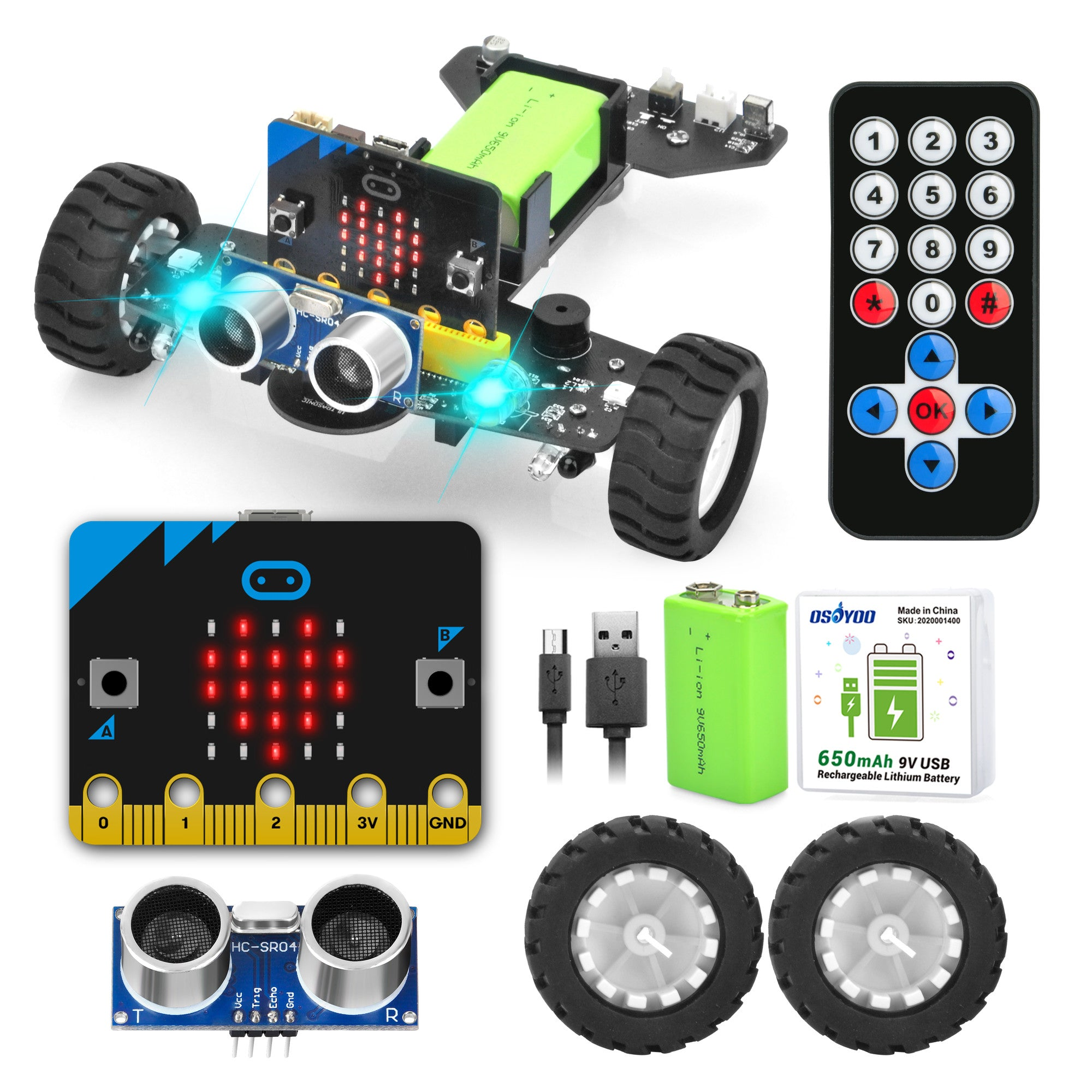 Parts for OSOYOO Photon robot kit with Micro: bit board model#2020005300
