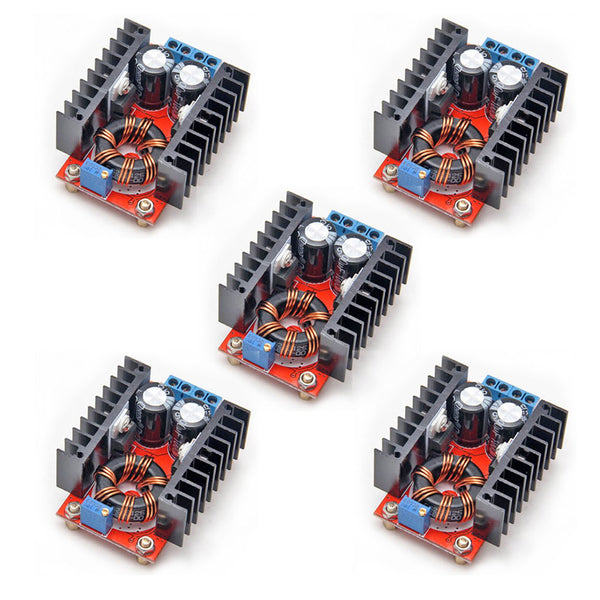 5PCS 150W DC-DC 10-32V to 12-35V Step Up Boost Converter Module Adjustable Power Voltage