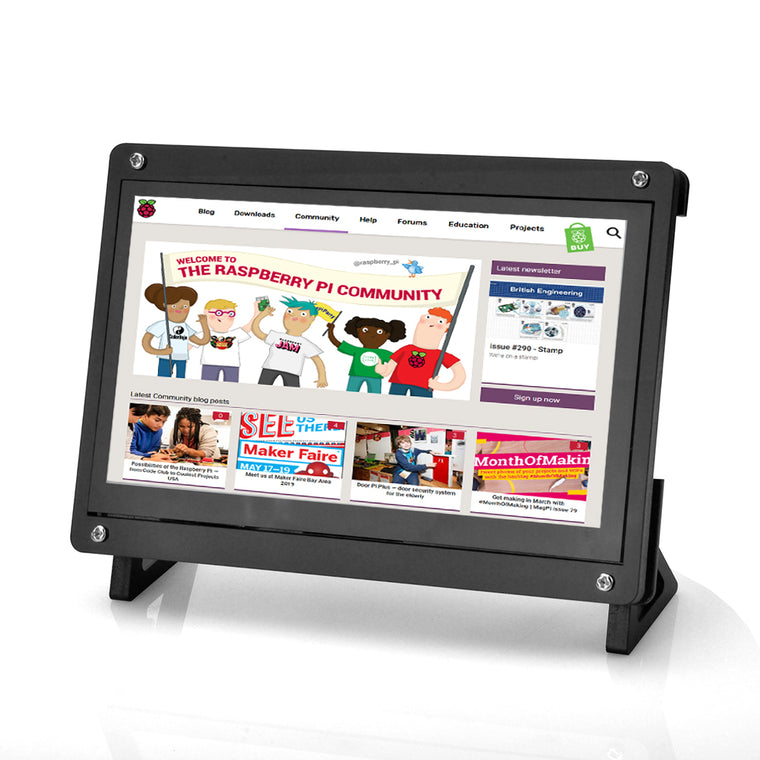 7 Inch Touch Screen and Stand TFT LCD Display HDMI 1024x600 Driver Free for Raspberry Pi,Computer,TV Box,DVR,Game Device