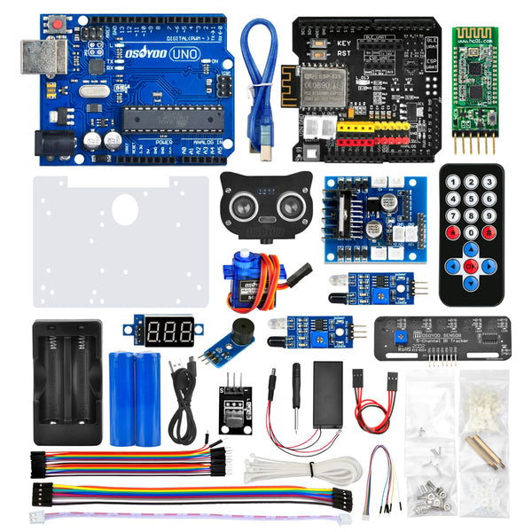 Robot Car Electronics Parts Kit for Arduino Raspberry Pi Tank Platform Chassis (Tank Chassis NOT Included)