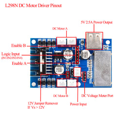 Model Pi L298N motor driver board for raspberry pi robotic car