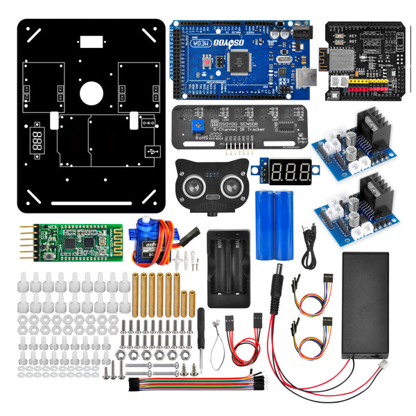 Robot Car Electronics Accessaries Kit for 4WD Omni Mecanum Wheel Robotic Chassis Compatible with Arduino Mega2560 (Electronic Control Kit)