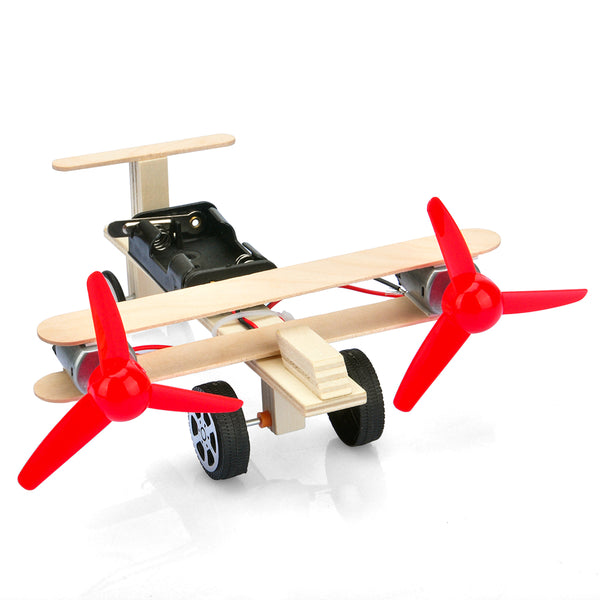 OSOYOO Kids Wooden Assemble DIY kit,Lift Elevator Airplane Craft,3D Puzzle, Recommend for Age 7+