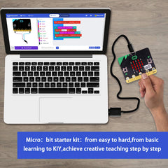 OSOYOO Starter Learning Kit for BBC Micro:bit Programming Makecode for Beginners and Kids Suitable for STEM Education