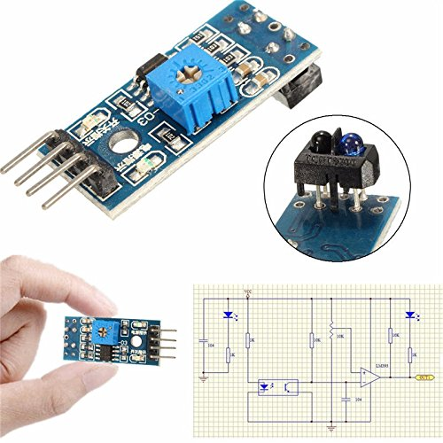 OSOYOO 10PCS TCRT5000 Infrared Reflective IR Photoelectric Switch Barrier Line Track Sensor Module for Arduino Smart Car Robot with 5 8Pin Female to Female Jumper Wires