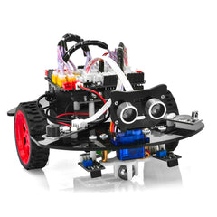 OSOYOO Graphical Programming Robot Car Starter Kit for Arduino Uno | Remote Controlled STEM Mechanical Motorized Robotics for Building Learning How to Code | Educational Coding for Kids Teens Adults